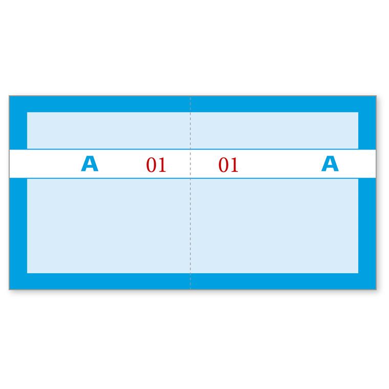 Kuponbog blå 130 x 70 mm 92220560 -  1 til 100 - 2 x 100 kuponer
