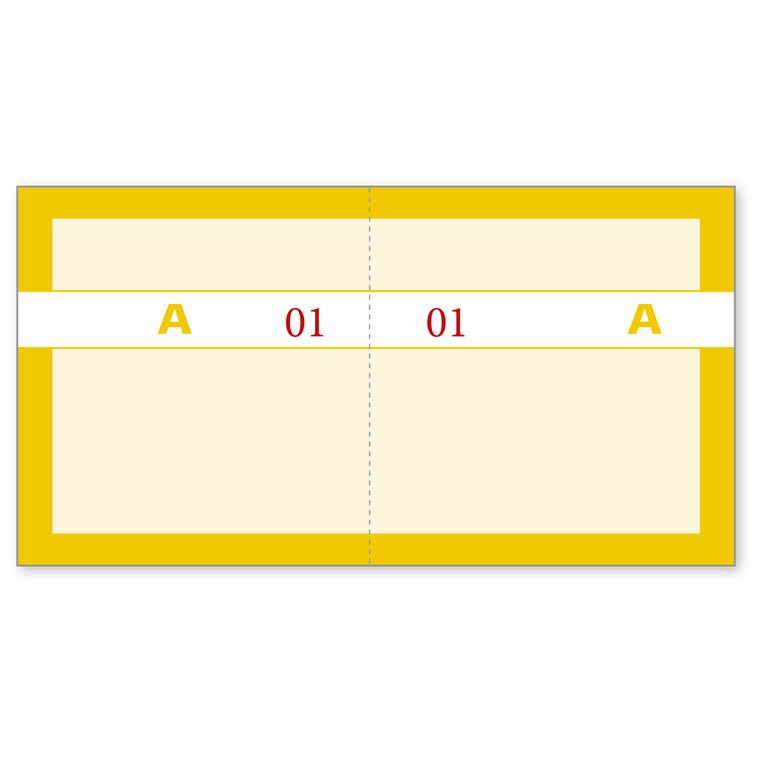 Kuponbog gul 130 x 70 mm 92220580 - 1 til 100 - 2 x 100 kuponer