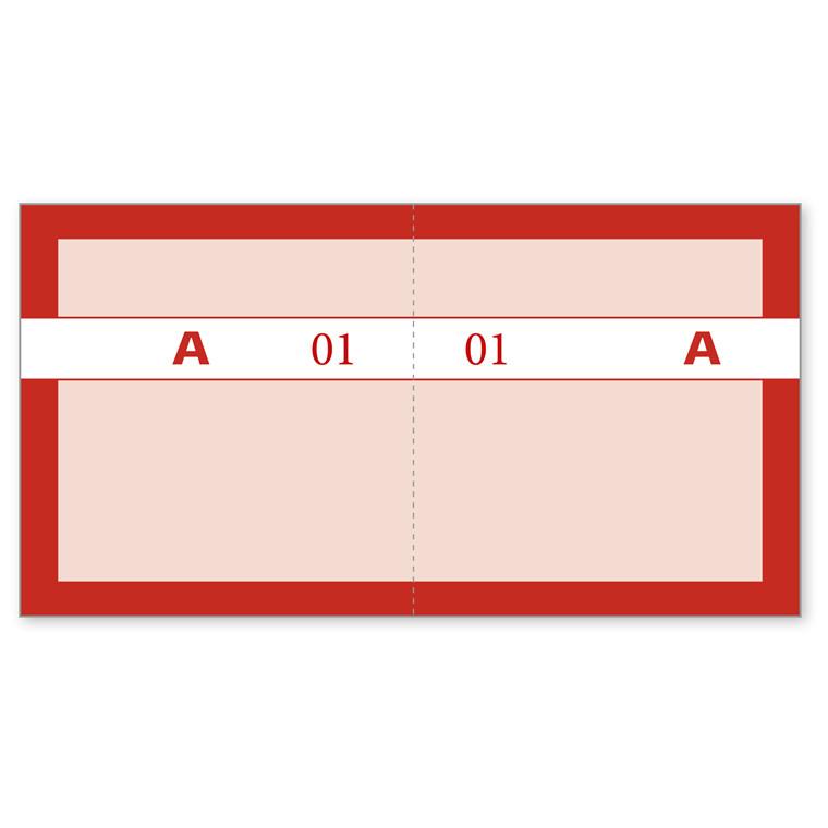 Kuponbog rød 130 x 70 mm 92220590 - 1 til 100 -  2 x 100 kuponer
