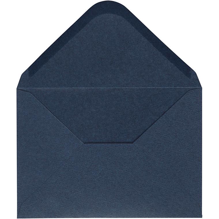 Kuvert, blå, str. 11,5x16 cm, 110 g, 10stk.