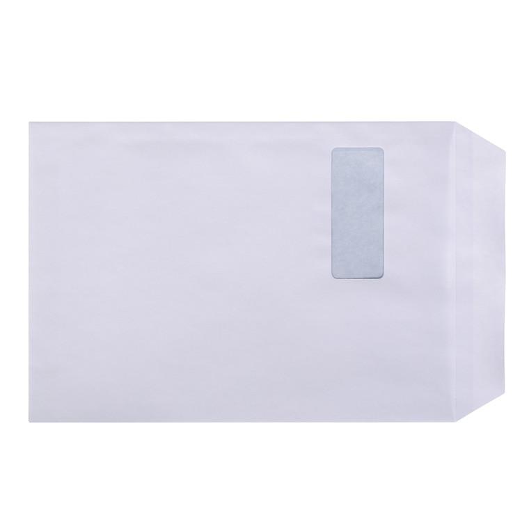 Kuvert - C4P med rude hvid 229 x 324 mm 3746-13746 - 500 stk