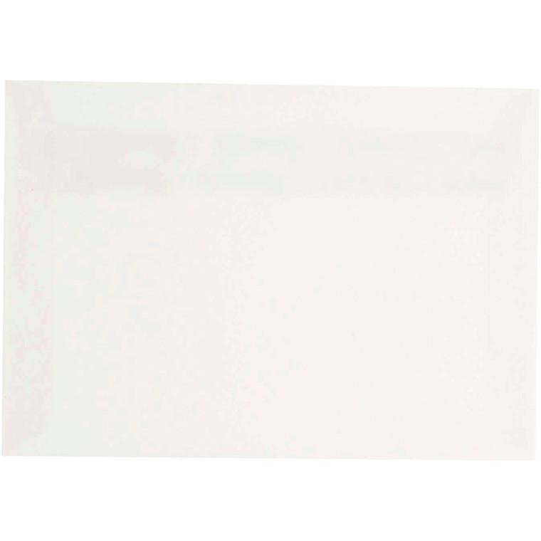 Kuvert, C6 11,4x16,2 cm, 120 g, råhvid, 50 stk.