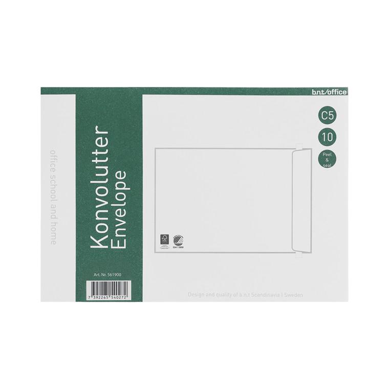 Kuverter C5P 80g Peel & Seal 162x229mm 10stk