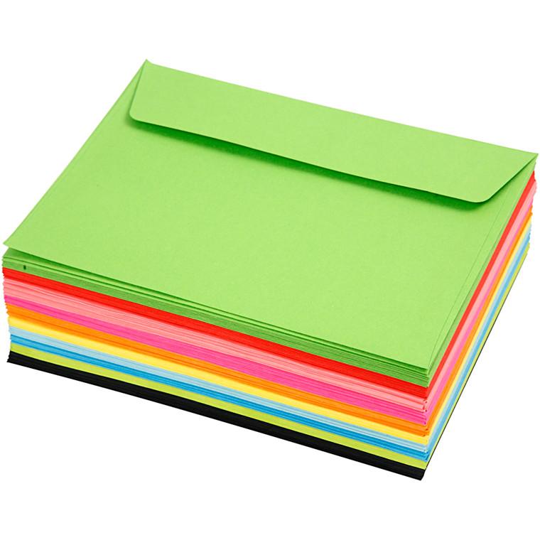 Kuverter, C6 11,5x16 cm, 80 g, 100ass.