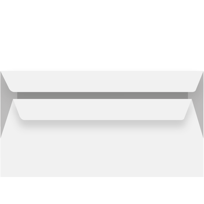Kuverter - M65 112 x 220 mm Peel & Seal 70 g  - 50 stk