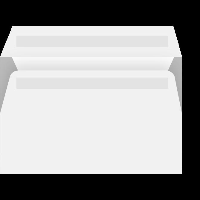 Kuverter - M65 med rude hvid 110 x 220 mm 13325/323 DS - 500 stk