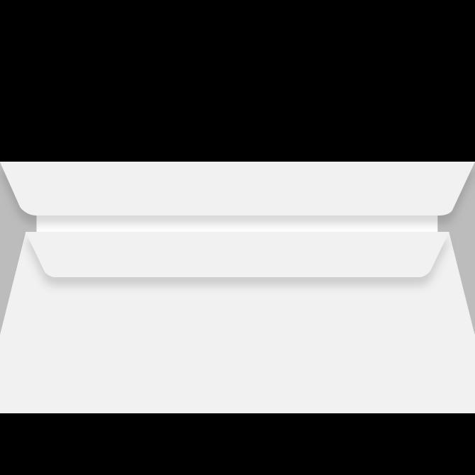 Kuverter - M65 med rude hvid 110 x 220 mm 13378 DS -  100 stk