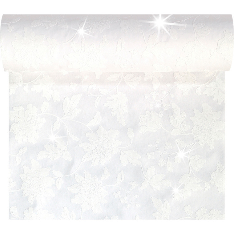 Kuvertløber Dunicel 45 cm x 24 meter Brilliance hvid perforeret - 4 stk