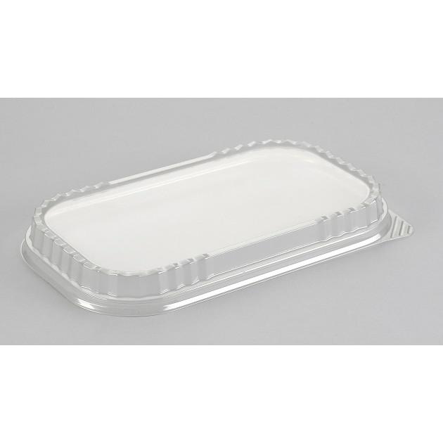 Låg dome A-PET til foliebakke sort/alu 650 ml & 940 ml - 100 stk
