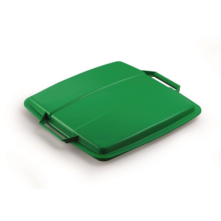 Låg til affaldsspand Durabin 90 - Grøn