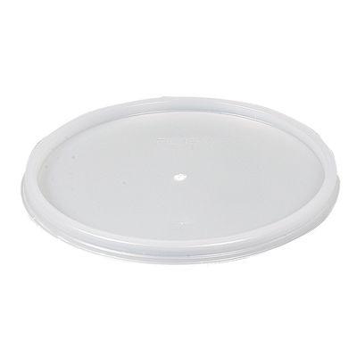 Låg, hvid, til termoskål, polystyren,