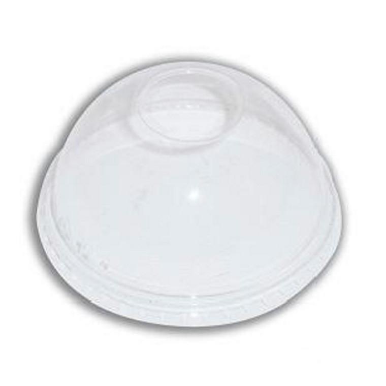 Miljøvenligt låg - kuppel med hul PLA ø96 mm -  50 stk