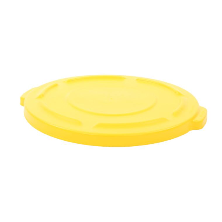 Låg til affaldsspand, gul,