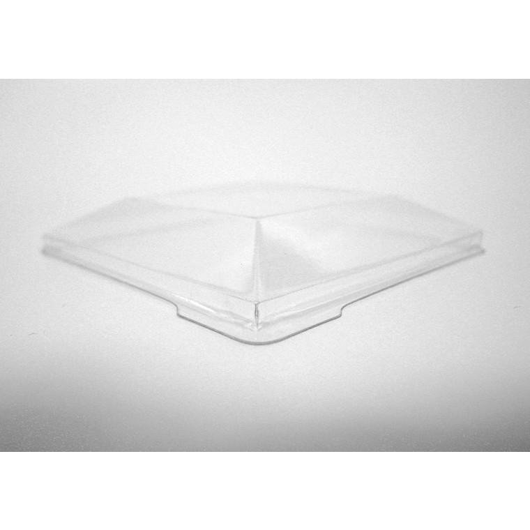 Låg til bowl firkantet 270928 klar 130 x 130 x 35 mm - 100 stk