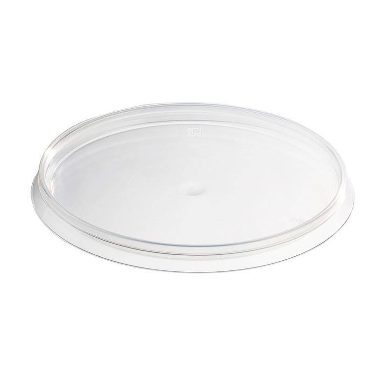 Låg til plastbæger 565ml transparent 88stk/pak