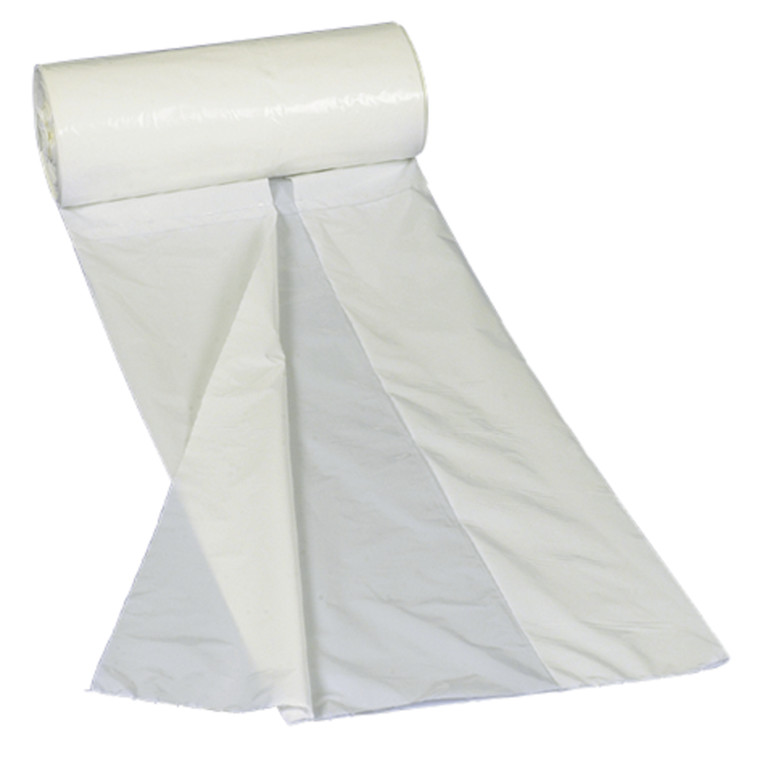 Lågpose, HDPE, hvid, 10 my, 30x35 cm, 6 l, 100stk/rl.