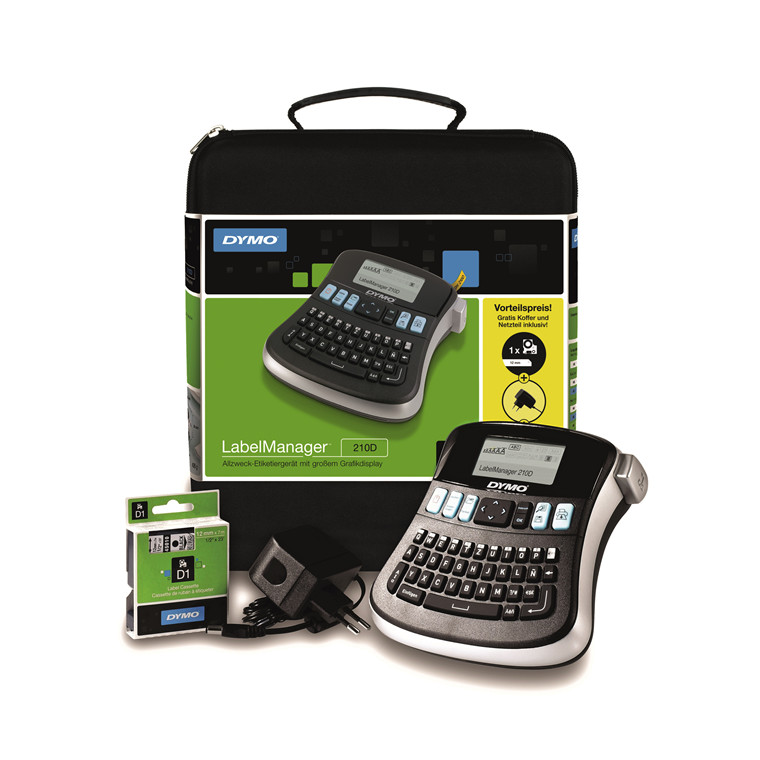 Labelprinter DYMO LabelManager 210 kuffertsæt