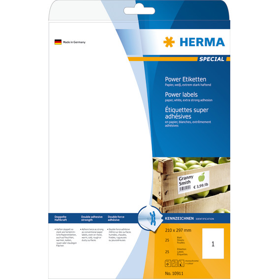 Labels HERMA Power A4 210x297 25