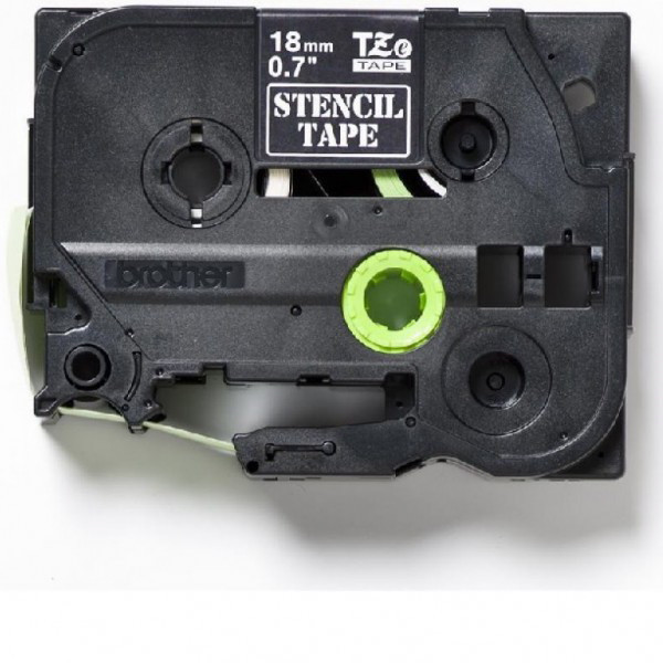 Labeltape Brother STe141 18mm stenciltape/elektrolysetape