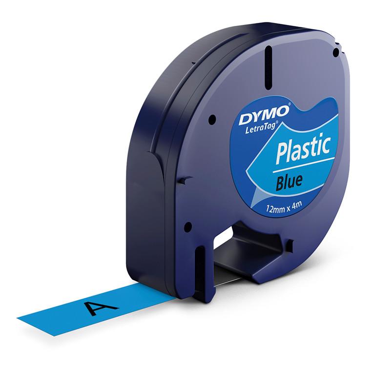 Labeltape DYMO LetraTAG 12mmx4m blå plasttape