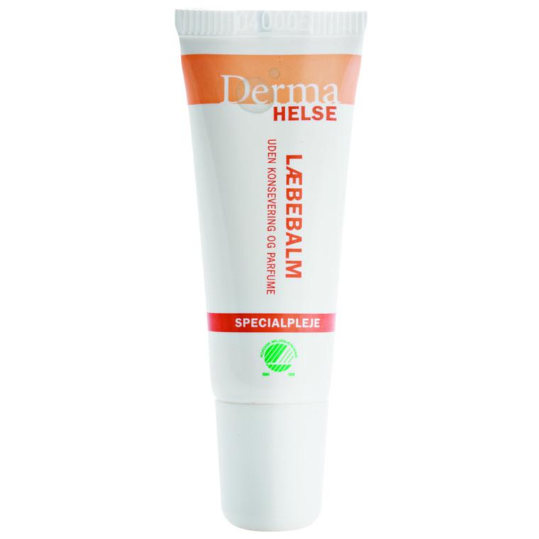 Læbebalm, Derma Helse, uden farve og pafume, 10 ml