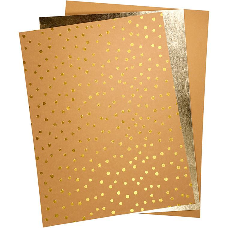 Læderpapir ark 21 x 27,5 + 21 x 28,5 + 21 x 29,5 cm tykkelse 0,55 mm | 3 ark