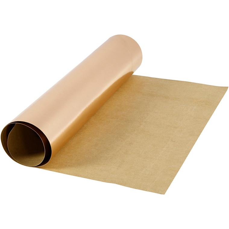 Læderpapir bredde 49 cm tykkelse 0,55 mm rosaguld | 1 meter