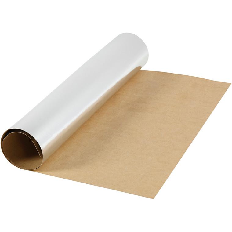 Læderpapir bredde 49 cm tykkelse 0,55 mm sølv | 1 meter