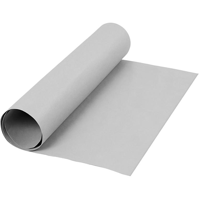 Læderpapir bredde 50 cm tykkelse 0,55 mm grå | 1 meter