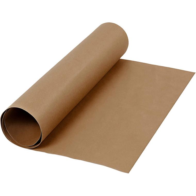 Læderpapir bredde 50 cm tykkelse 0,55 mm mørk brun | 1 meter