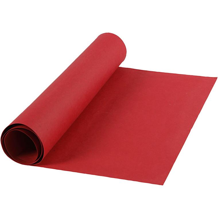 Læderpapir bredde 50 cm tykkelse 0,55 mm | rød 1 meter