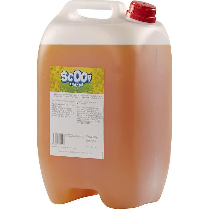 Læskedrik/Slush Ice, Scoop, Ananas, 10 l