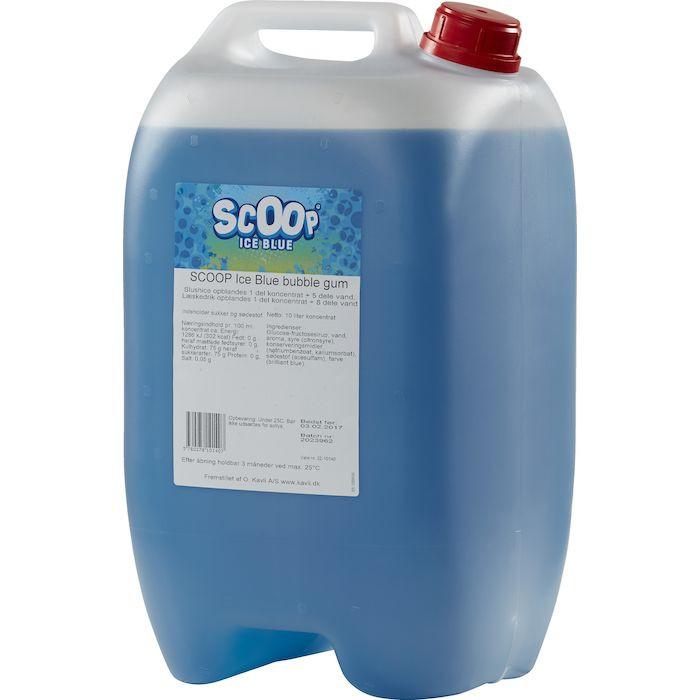 Læskedrik/Slush Ice, Scoop, Ice Blue, 10 l