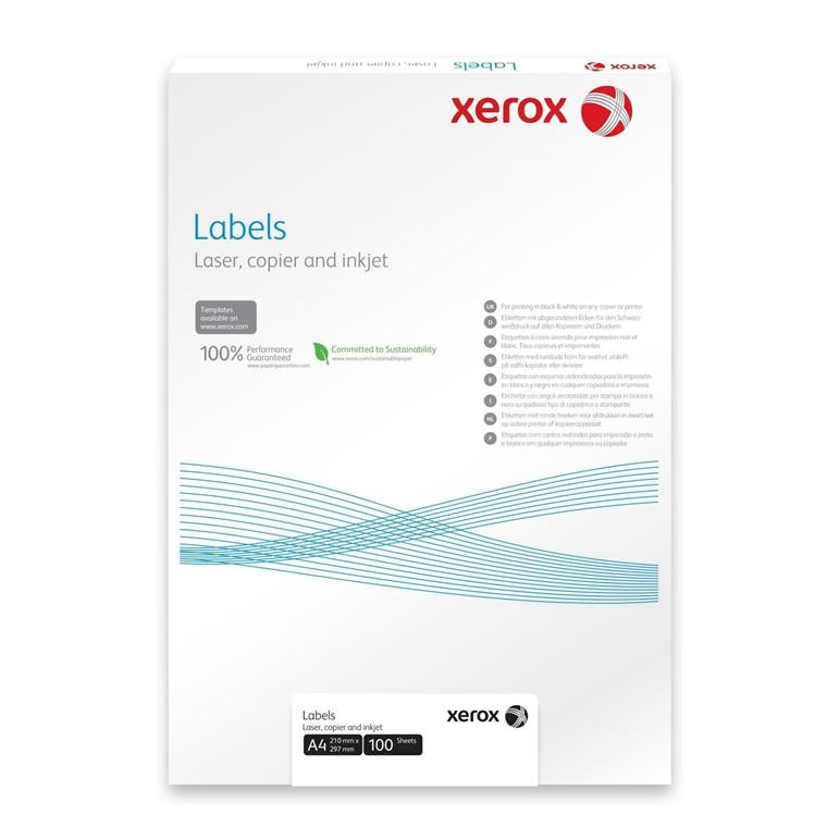 Xerox Multilabels - 40 pr. ark 52,5 x 29,7 mm 003R90022  - 100 ark