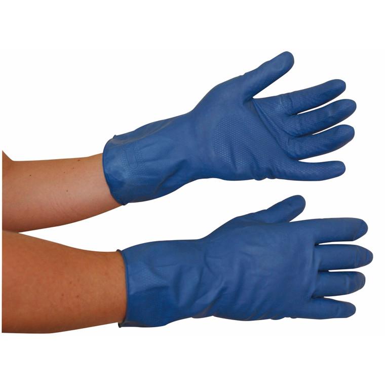 Latexhandsker large (8½-9) blå 12par/pak
