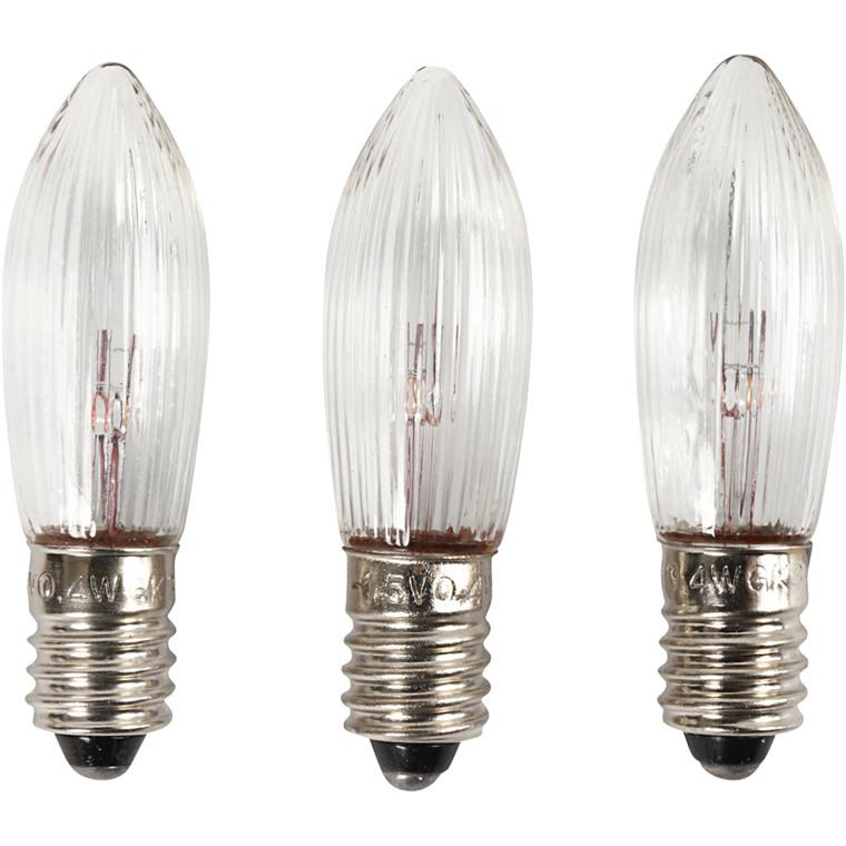 LED pære, H: 45 mm, diam. 15 mm, 3stk.