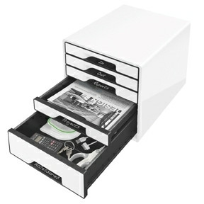 Leitz Desk Cube  5-drawer white