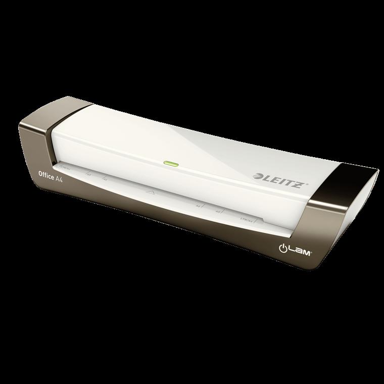 Laminator A4 Leitz iLAM Office - sølv til 80-125 mic