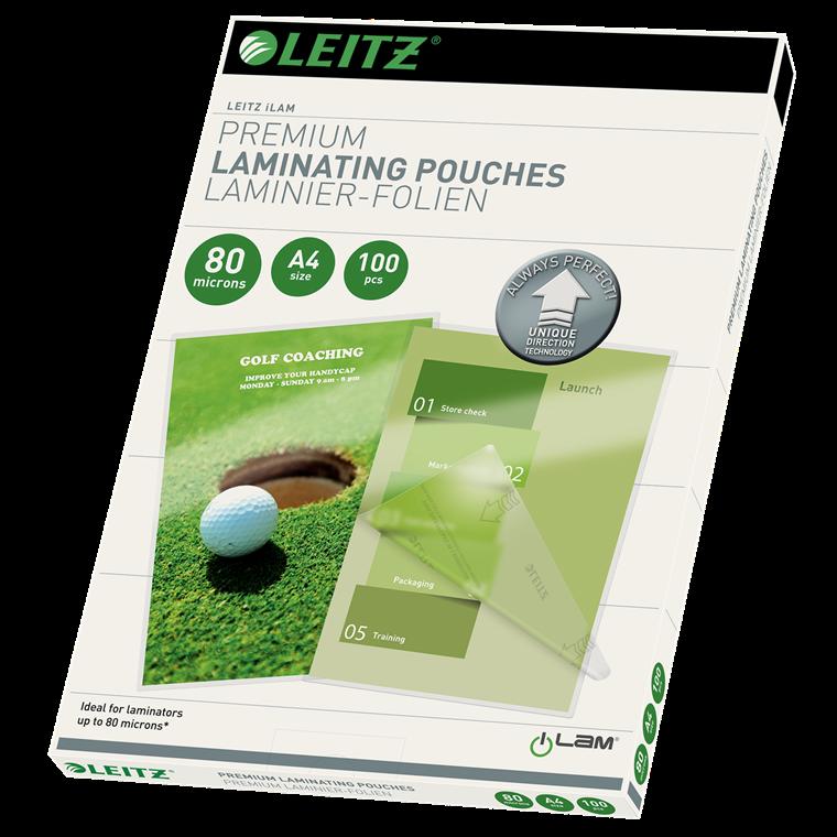 Leitz Lamineringslomme A4 UDT glans 80 mic | 100 stk