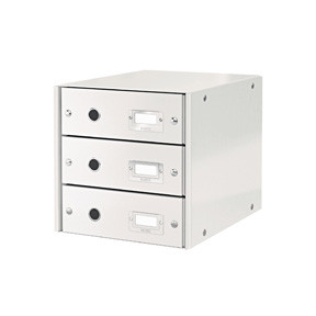 Leitz Click & Store skuffekabinet med 3 skuffer - Hvid
