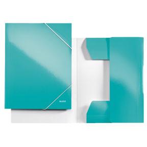 Leitz Folder 3-flap WOW A4 ice blue