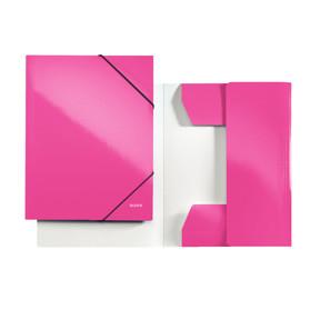 Leitz WOW 3-flap folder A4 pink