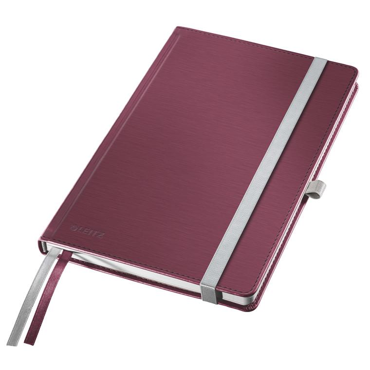 Leitz Notesblok - Style A5 Hard linieret rød  - 80 ark