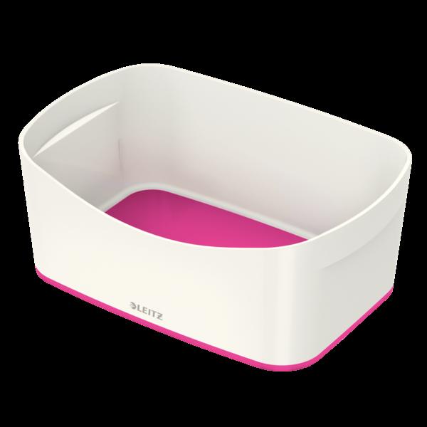 Leitz MyBox opbevaringsbakke Medium 16 x 24,6 x 9,8 cm - hvid/pink