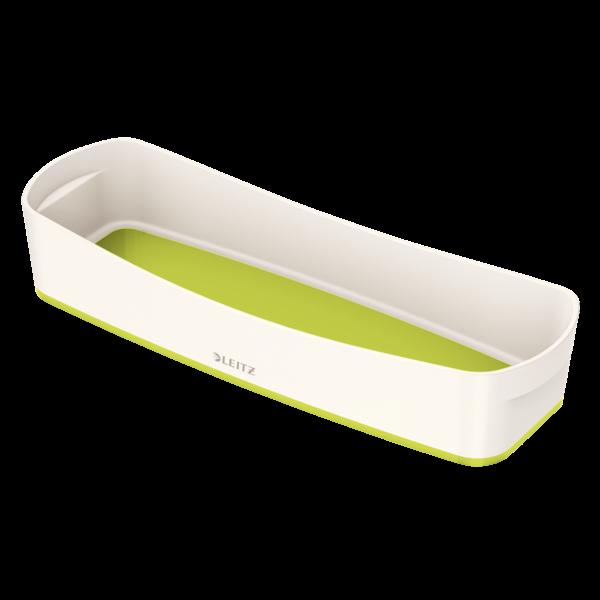 Opbevaringsbakke Leitz MyBox Small 10,5 x 30,7 x 5,5 cm - hvid & grøn