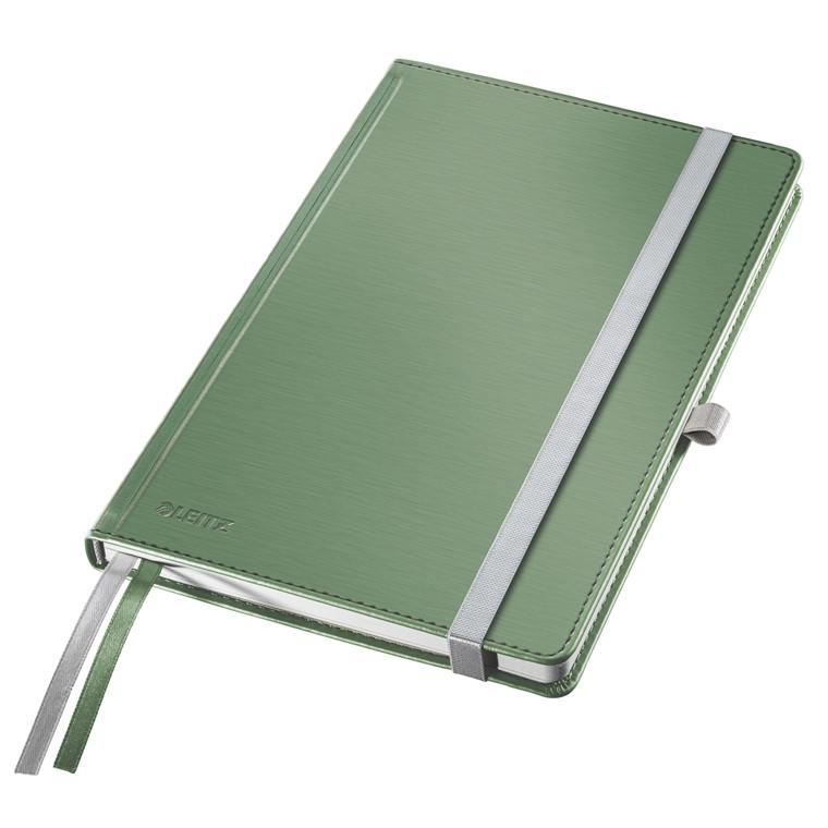 Leitz Style Notesbog A5 - Grøn hardcover linjeret 96 gram papir - 80 sider