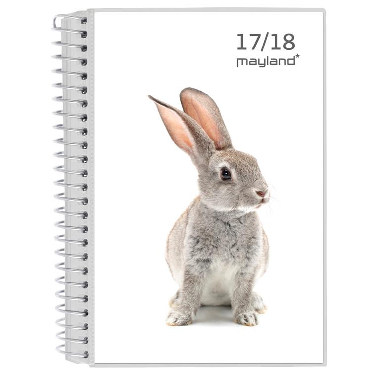 Lektiekalender dyremotiv 17/18 med 2 klapper 12 x 17 cm tværformat - Mayland 18 8120 10