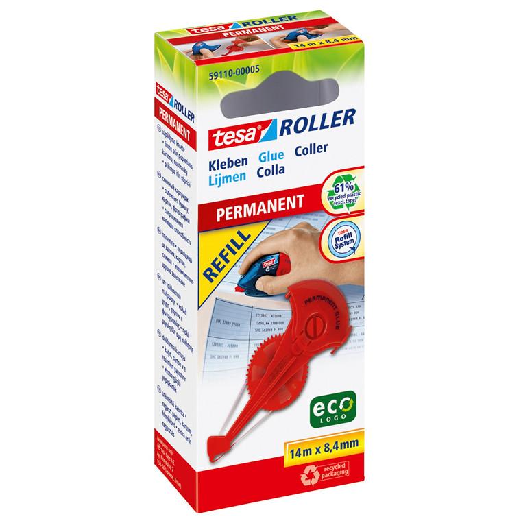 Limroller - tesa ECO logo Refill Permanent lim 8,4 mm x 14 meter