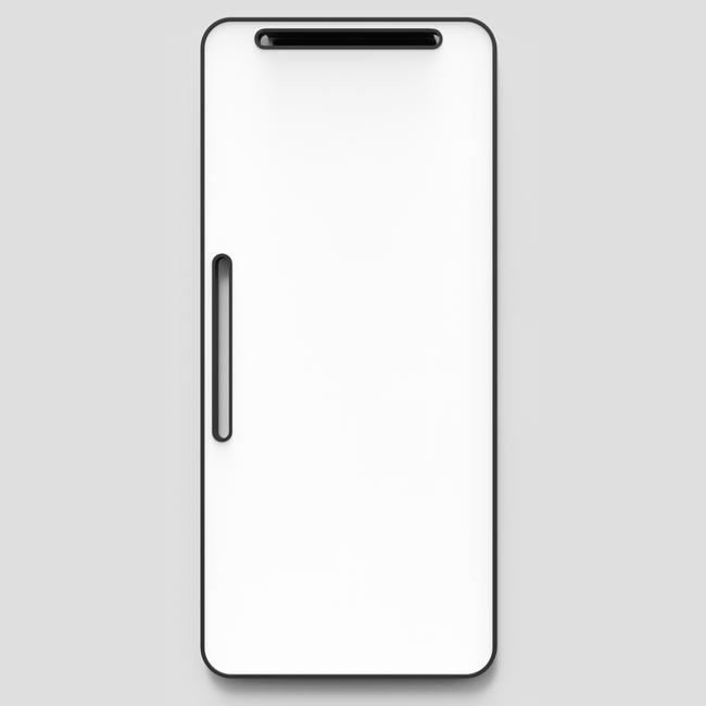 Lintex Note Whiteboard - 80 x 180 cm med sort gummiramme