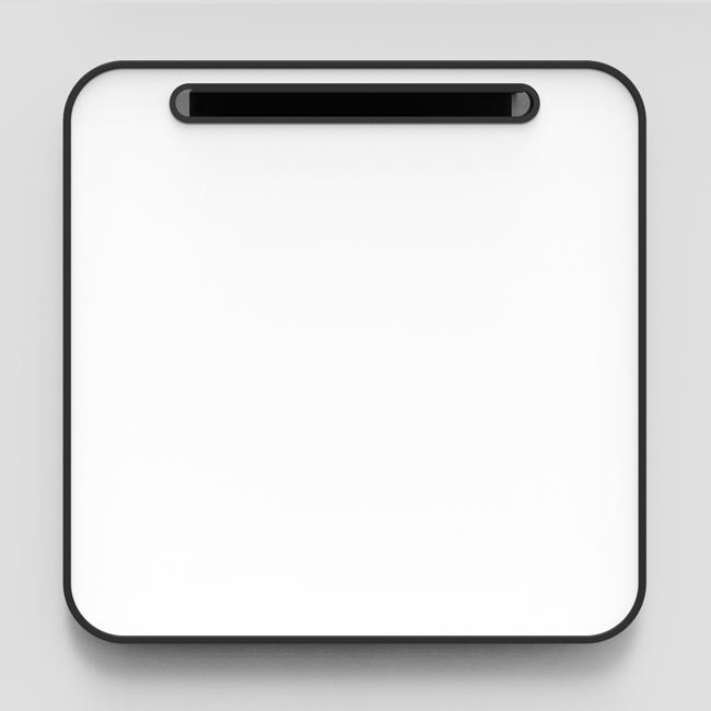 Lintex Note Whiteboard - 80 x 80 cm med sort gummiramme
